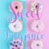 FREE Sweet Fragrance of Christ Poster with Bible verse from 2 Corinthians 2:14-16 and iced donuts on pink and aqua background; free printable