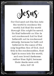 FREE Scripture Doodle John 3:17-19; free printable