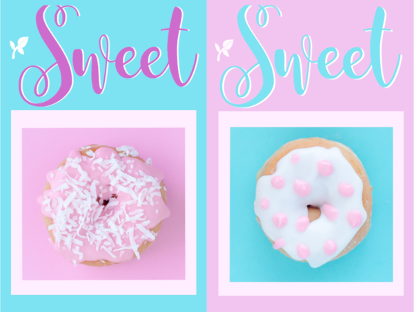 FREE Sweet Fragrance of Christ poster, bookmark, note cards, to do list, photo frame and stationery with Bible verse from 2 Corinthians 2:14-16 and iced donuts on pink and aqua background; free printable