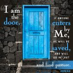 FREE I am The Door Bible poster; free printable