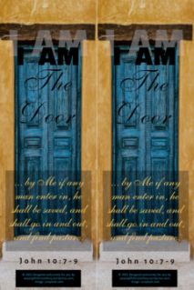 FREE Bible bookmark; I am the Door; free printable