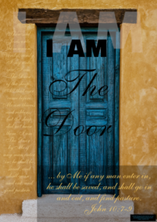 FREE Bible poster; I am the Door; free printable