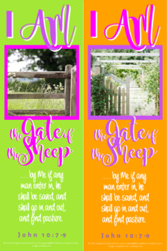 FREE Bible bookmark; I am the Gate; free printable
