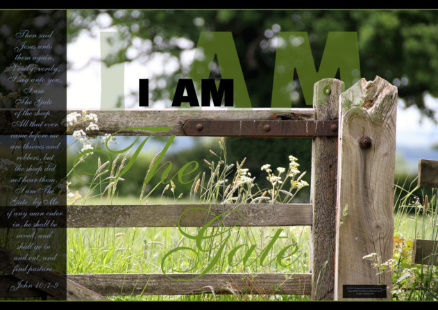 FREE Bible poster; I am the Gate; free printable