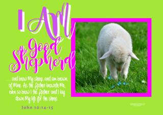 FREE Bible poster; I am the Good Shepherd; free printable