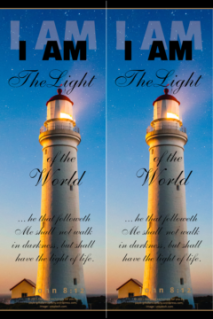 FREE Lighthouse Bible bookmark; I am the Light of the World; free printable