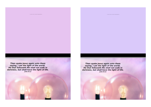 FREE Bible note cards; I am the Light of the World; pink light globes on dusky pink or mauve background; free printable