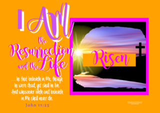 FREE Bible poster; I am the Resurrection and the Life; free printable
