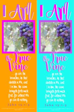 FREE Bible bookmark; I am the True Vine; free printable
