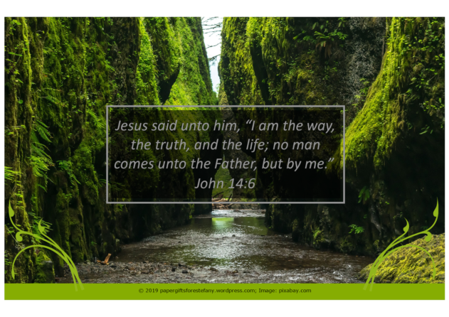FREE Bible poster; I am the Way, the Truth, and the Life; free printable