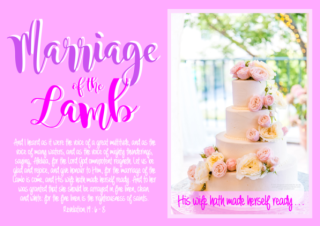 FREE The Parable of the Ten Virgins Bible Poster; Marriage of the Lamb; Revelation 19:6-8; free printable