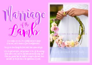 FREE The Parable of the Ten Virgins Bible Poster; Marriage of the Lamb; 1John1:9; John 15:3; Revelation 19:6-8; free printable