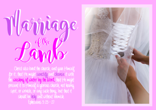 FREE The Parable of the Ten Virgins Bible Poster; Marriage of the Lamb; Ephesians 5:25-27; free printable