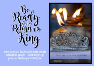 FREE The Parable of the Ten Virgins Bible Poster; Matthew 25; Revelation 16:15; free printable