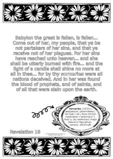 FREE Scripture Doodle; Revelation 18; free printable