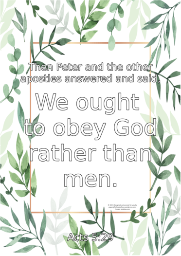 FREE Scripture doodle Acts 5:29; free printable