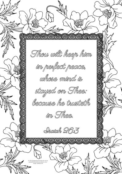FREE Scripture doodle Isaiah 26:3; free printable