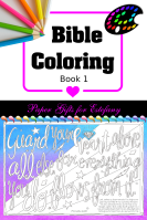 Bible Coloring - Book1; free Bible verse colouring pages