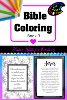 FREE Bible Coloring - Book3; FREE Bible verse colouring pages
