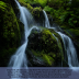 FREE Waterfall Poster with Bible verse from 2 Chronicles 20.12; free printable